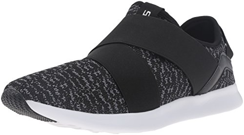 Steve Madden Men's Bryden Fashion Sneaker, Black/Grey, 9.5 M US