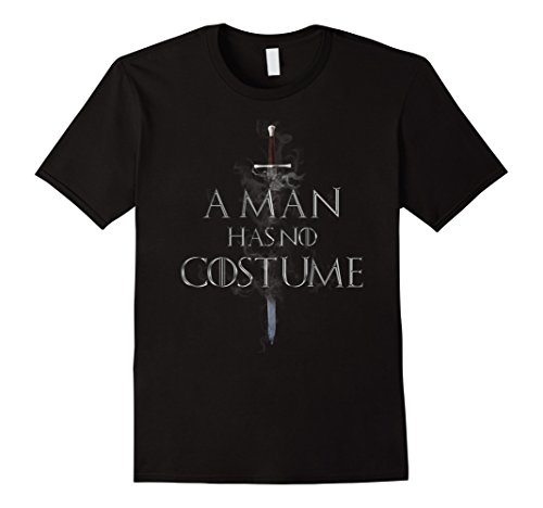 Black Male Halloween Costumes (Mens A Man Has No Costume Halloween Shirt Small Black)