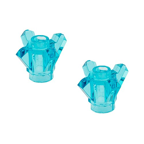 Lego Parts: Rock 1 x 1 Crystal 4 Point (PACK of 2 - Transparent Light Blue (Sabres Rock)