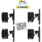 Camp'N - 4 Pack - Push Catch - Latch - Grabber - Holder for RV Cabinet Doors with Mounting Hardware - 5 lbs Pull Force - Perfect for RV, Trailer, Camper, Motor Home, Cargo Trailer - OEM Replacement