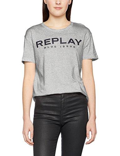 REPLAY W3791o.000.20994, Camiseta para Mujer Gris (Medium Grey Melange)