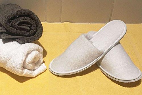 Color: Blanco Zapatillas de ba/ño de Rizo para Mujeres Arus 2 Pares Talla /única
