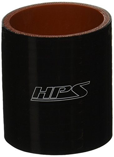 HPS HTSC-238-BLK Silicone High Temperature 4-Ply Reinforced Straight Coupler Hose, 100 PSI Maximum Pressure, 3