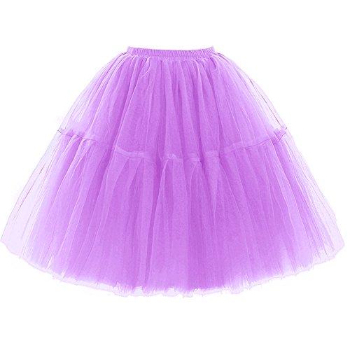 (FOLOBE Adult Ballet Tutu Layered Organza Lace Mini Skirt Women's Princess Petticoat for Prom)