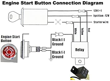 Amazon.com: VMS Racing Push Button Start Kit Ignition Engine Starter  Igniter: Automotive | Push Button Start Wiring Diagram |  | Amazon.com