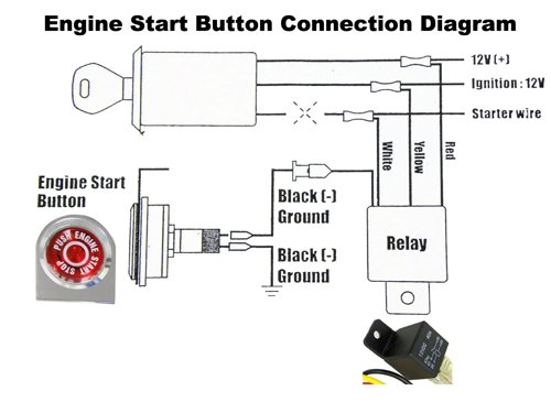 amazon com push button start kit ignition engine starter igniter rh amazon com push button starter switch wiring diagram push button starter wiring