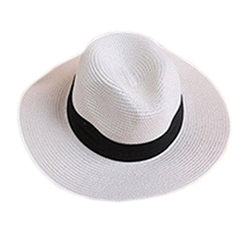 Westeng Jazz Hat Men Women Beach Sun Hat Linen Straw Sun Protection Visor  Cap  Amazon.co.uk  Clothing a04e728898a7