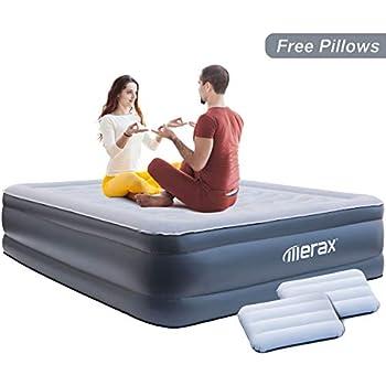 Amazon.com: Colchón de aire Queen elevado, cama de aire de ...