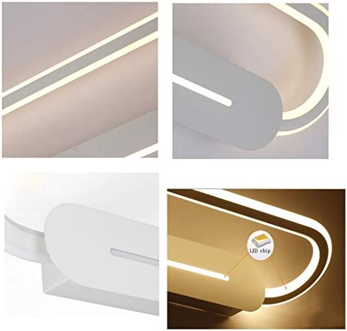 LED Mirror Headlight Bathroom Toilet Mirror Cabinet Lamp Two-Color Light Source Wall Lamp Head Adjustable Mirror Light LITTLE (Color : White Light)