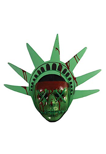 Trick or Treat Studios The Purge: Election Year Lady Liberty Light Up Mask, Officially Licensed by Trick or Treat Studios