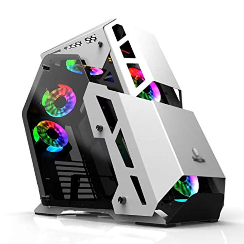 Gaming Case, Mid-Tower ATX/M-ATX PC Gaming Computer Case,1.2mm Plate, 4mm Tempered Glass, USB3.0, 7 Fan Positions, Support Water Cooling (Color : White)