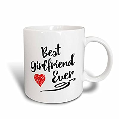 Russ Billington Designs - Typographic Best Girlfriend Ever Design - Mugs