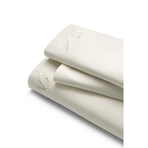 Lands' End School Uniform 200 Percale Solid Pintuck Sheets, F, Soft White by Lands' End