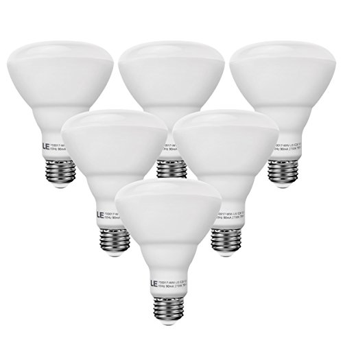 LE 6 Pack 65W Incandescent Equivalent, BR30 LED Bulbs ,10W E26 750lm, Warm White, 2700K, 110° Flood Beam, Non-dimmable, Track and Recessed Light