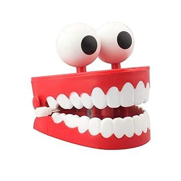 Halloween Wind Up Zähne Spielzeug Große Augen Springen Zähne Lustige