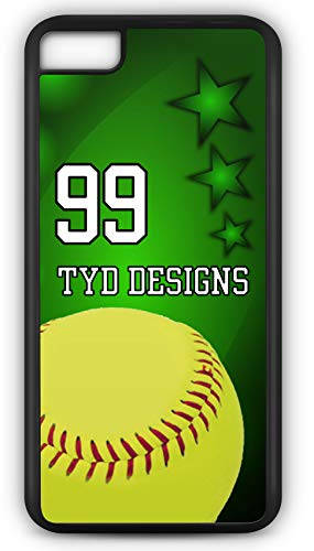 iPhone 6 Plus 6+ Case Create Your Own Softball Batting Average Player Number Name Team Name Customizable TYD Designs in Black Rubber
