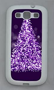 Christmas Tree 004 Samsung Galaxy S3 I9300 Rubber Shell with White Edges Cover Case by Lilyshouse