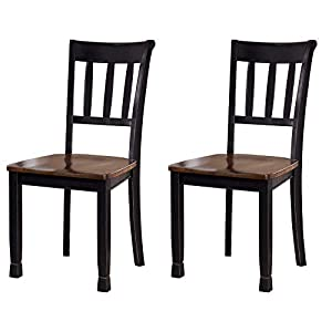 Signature Design by Ashley Owingsville Dining Room Side Chair Set of 2, Black and Brown