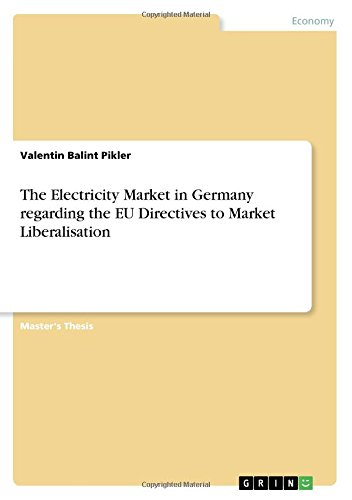 Download The Electricity Market in Germany regarding the EU Directives to Market Liberalisation PDF