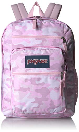 JanSport Big Student Backpack - 15-inch Laptop School Pack, Cotton Candy Camo (Best Laptop For Elementary Students)