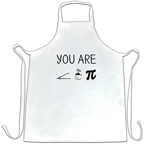 (Funny Nerdy Chefs Apron You Are Acute Tea Pie A Cutie Pun White One)