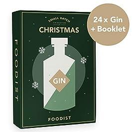 Für den Genießer – Gin Adventskalender – Exklusives 24er Miniatur-Gin Geschenk Set