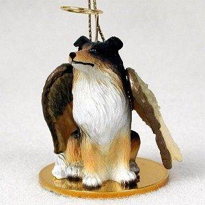 Tri Color Collie Christmas Angel Ornament (Collie Dog Angel Ornament)
