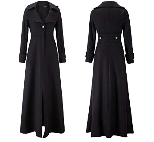 Premium Midi RkBaoye Jacket Fall Down Women Coat Turn Black Winter Collar twqUF0x7qn