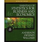 Essentials of Statistics for Business and Economics, Anderson, David Ray and Sweeney, Dennis J., 0324223226