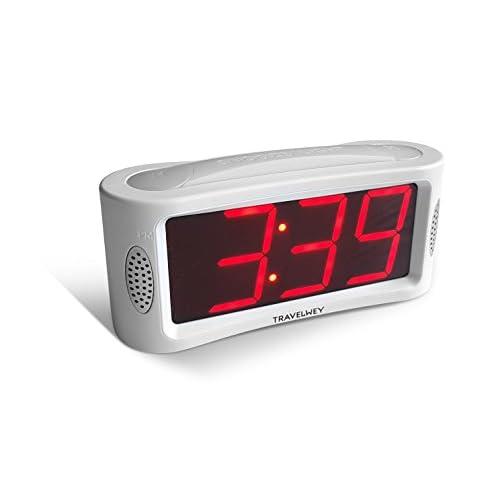 LED Digital Alarm Clock - Outlet Powered,...