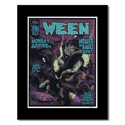 Music Ad World WEEN - House of Blues New Orleans 2000 Mini Poster - 22.2x17cm