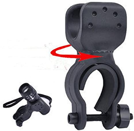 Domire Bicycle Bike Flashlight LED Torch Mount Holder Cycling Clip Clamp