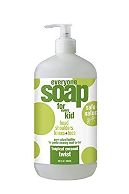 EO Products Tropical Coconut Twist Kids Soap 32 EO 3 In 1 Everyone Soap: Shower Gel, Bubble Bath, Shampoo, 32fl oz