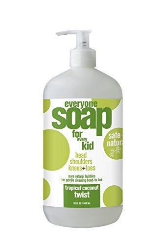 1 Bath Soap (EO Products Tropical Coconut Twist Kids Soap 32 EO 3 In 1 Everyone Soap: Shower Gel, Bubble Bath, Shampoo, 32fl oz)