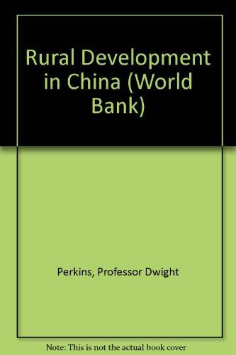 Rural Development in China (World Bank)