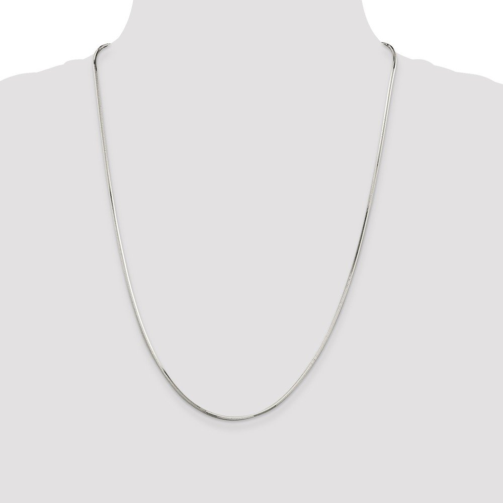 Beautiful Sterling silver 925 sterling Sterling Silver 1.65mm Octagonal Snake Chain