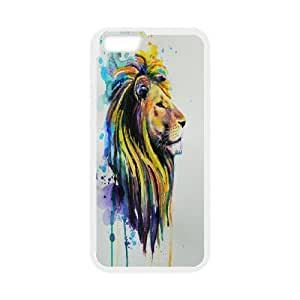 Powerful Lion Design Pattern Hard Skin Back Case Cover Potector for Iphone 6 Case 4.7 Inch HSL420023