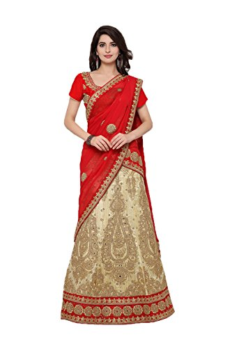 Fashions Trendz Indian Women Designer Wedding Beige Lehenga Choli SS-11030C by Fashions Trendz
