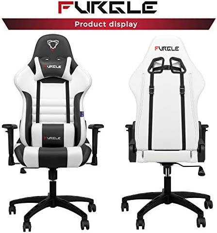 【New Update】 Furgle Gaming Chair Racing Style High-Back Office Chair w/PU Leather and Adjustable Armrests Executive Ergonomic Swivel Video Game Chairs with Rocking Mode & Headrest and Lumbar Support 41QedLqmNwL