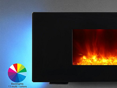 """PuraFlame 36"""" Portable or Wall Mounted, Panel Remote,"""