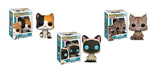 Maine Coon Cat Kitten (Funko POP Pets: Calico, Siamese, and Maine Coon Kitten Cat - 2 Piece)