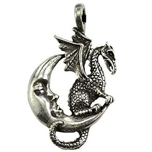 Anya Nana Wicca Necklace Midnight Dragon Amulet 1.5