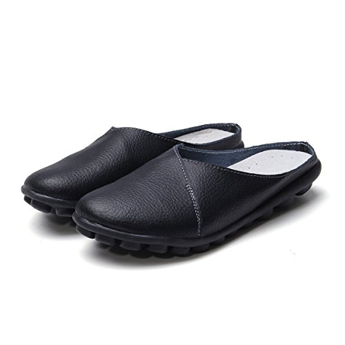 Tezoo Casual Walking Slippers Round Head Pure Color Soft Sole Casual Flat Shoes by Tezoo (Image #2)