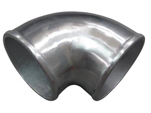 CXRacing 3.5 Inch Cast Aluminum Elbow 90 Degree Pipe Polished Finishing