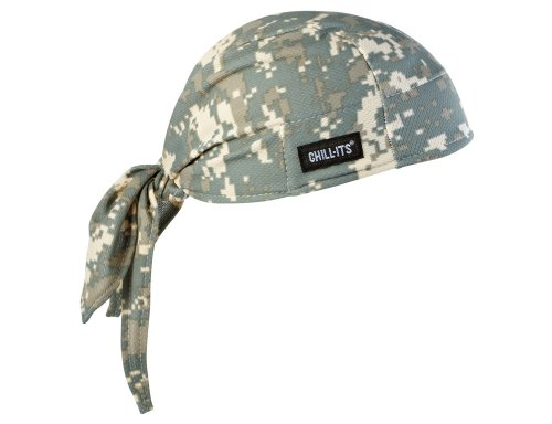 Ergodyne Chill-Its 6615 Absorptive Moisture-Wicking Dew Rag, Camo ()