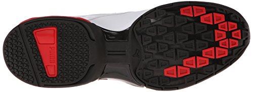 Puma - - Tazon Hombres 5 Zapatos White/Black Grey/Ribbon Red