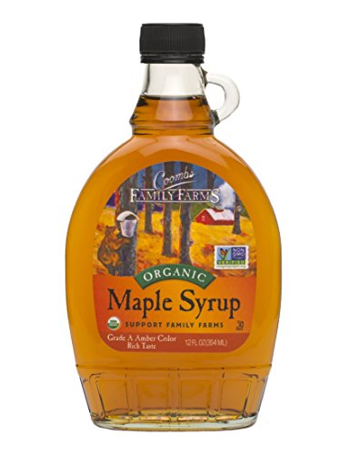 (Coombs Family Farms Organic Maple Syrup, Grade A, Amber Color, Rich Taste, 12oz)