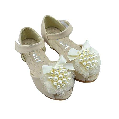 Zhuhaixmy Korean süße Mädchen Kids Open Toe Fisch Kopf weiche Sohle Schuhe Baby Prinzessin Sandalen Beige