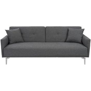 Amazon Com Euro Style Lafau Sofa Bed With Armrest Dark