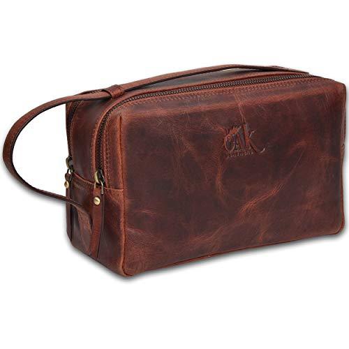 Leather toiletry bag for men – toiletry bag for women leather toiletry bag travel dopp kit Leather dopp men Shaving Kit Brown Crazy Horse